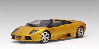 AUTOart Lamborghini Murcielago Roadster in Gold Beautifully crafted Lamborghini Murcielago Roadster diecast model car 1:18 scale by AUTOart. This http://www.comparestoreprices.co.uk/diecast-model-cars--others/autoart-lamborghini-murcielago-roadster-in-gold.asp
