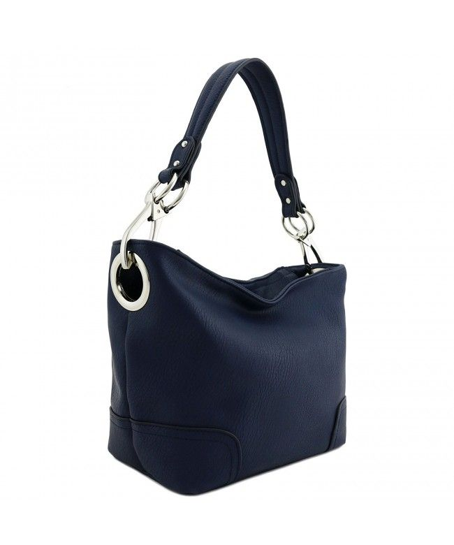 b96d6d56d10c Hobo Shoulder Bag with Snap Hook Hardware Small - Navy - C2189I47YC9  Bags   Handbags  Tophandlebags  gifts  Style