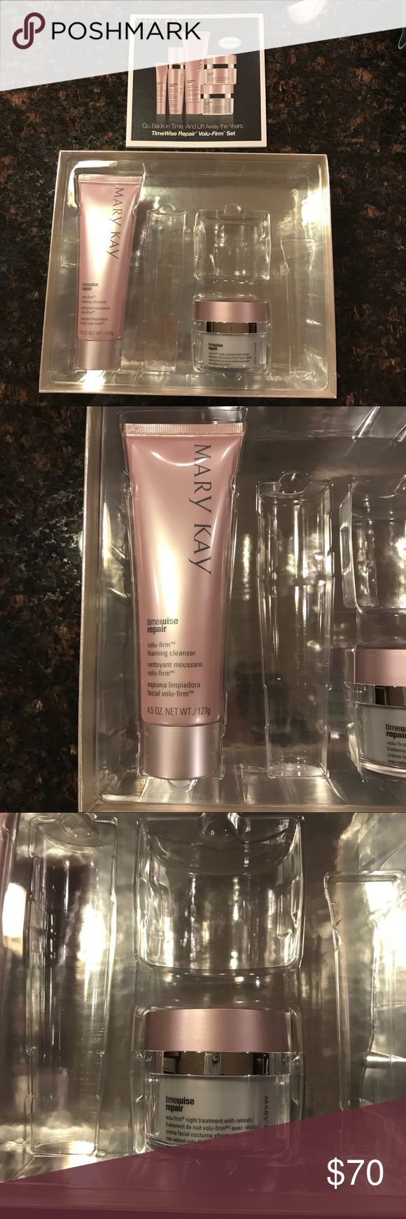 Mary Kay Timewise Repair Cleanser & Night Cream Brand new, still in box. Never been used! Open to selling together or separately.  Volu-Firm Foaming Cleanser - $28 Selling separately at $23 Volu-Firm Night Treatment with Retinol - $52 Selling separately at $47 Listing price reflects the purchasing together price Mary Kay Other