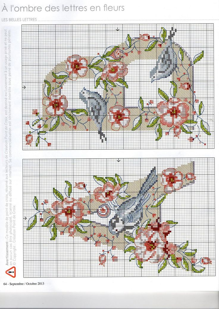 Floral alphabet: