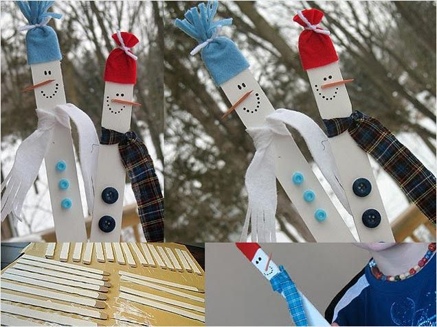 Kids' Christmas Crafts - Stick Figures