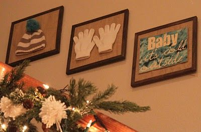 Winter decor.  Great for tiny hats and mittens the littles have outgrown.