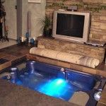 Custom Hot Tub in Floor - can be completely hidden by an area rug