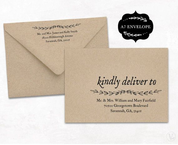 Wedding Envelope Template, A7 Envelope Size, Printable Wedding Envelope Template, WE005