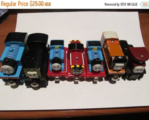 ON SALE Thomas the Train - Set of 7 train cars by CellarDeals on Etsy