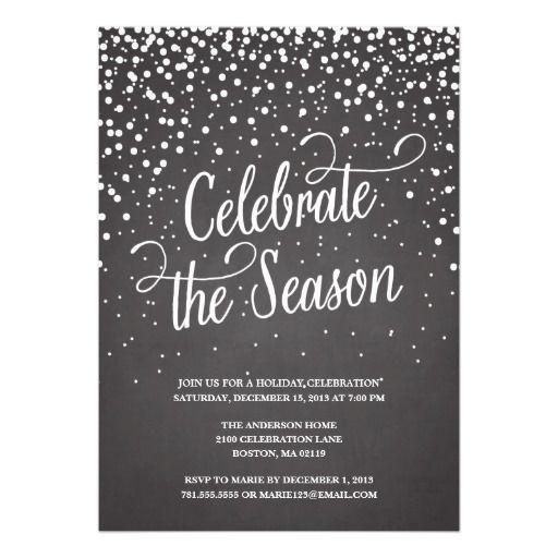 71 best invites images on pinterest christmas parties christmas first snow holiday party invitation stopboris Images