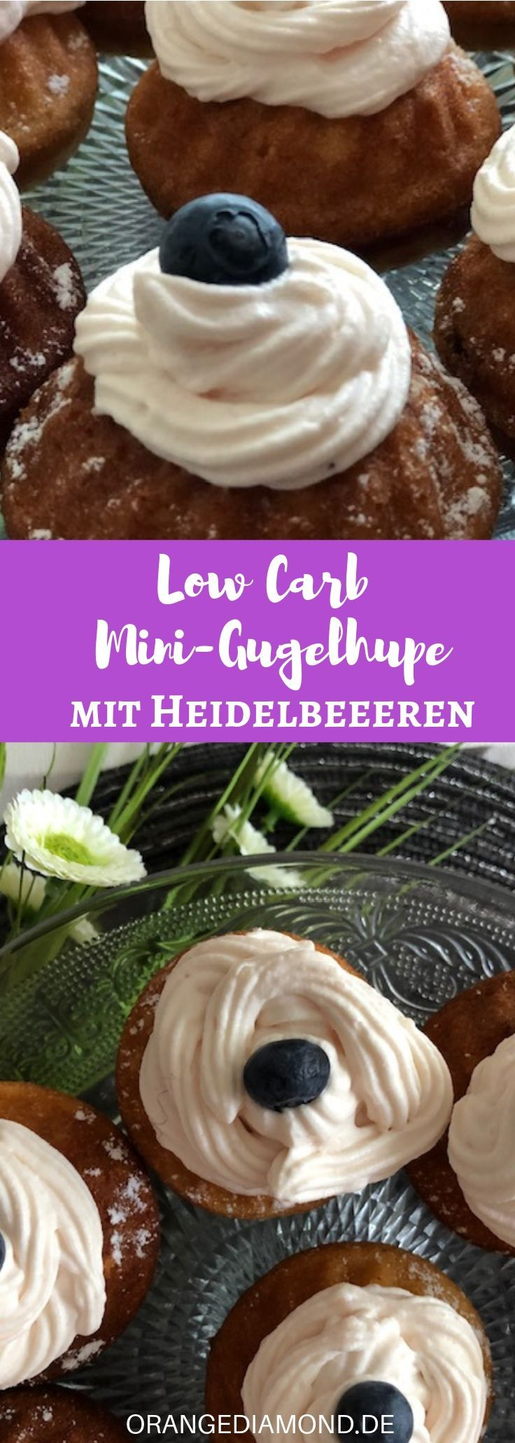 Low Carb Mini Blueberry Gugelhupfe [Rezept]