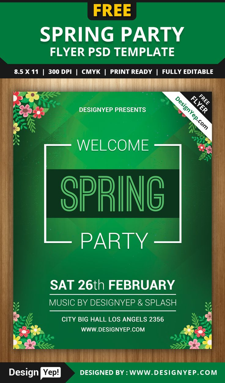 best images about flyers flyer template spring welcome party flyer psd template designyep