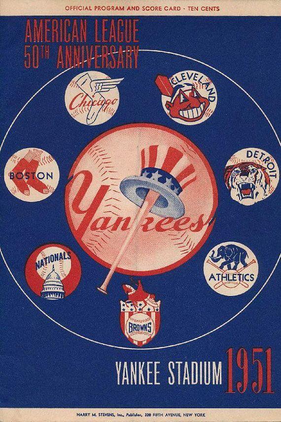 New York Yankees 1951 Print Vintage Baseball Poster Retro Etsy In 2020 New York Yankees Vintage Baseball Baseball Art