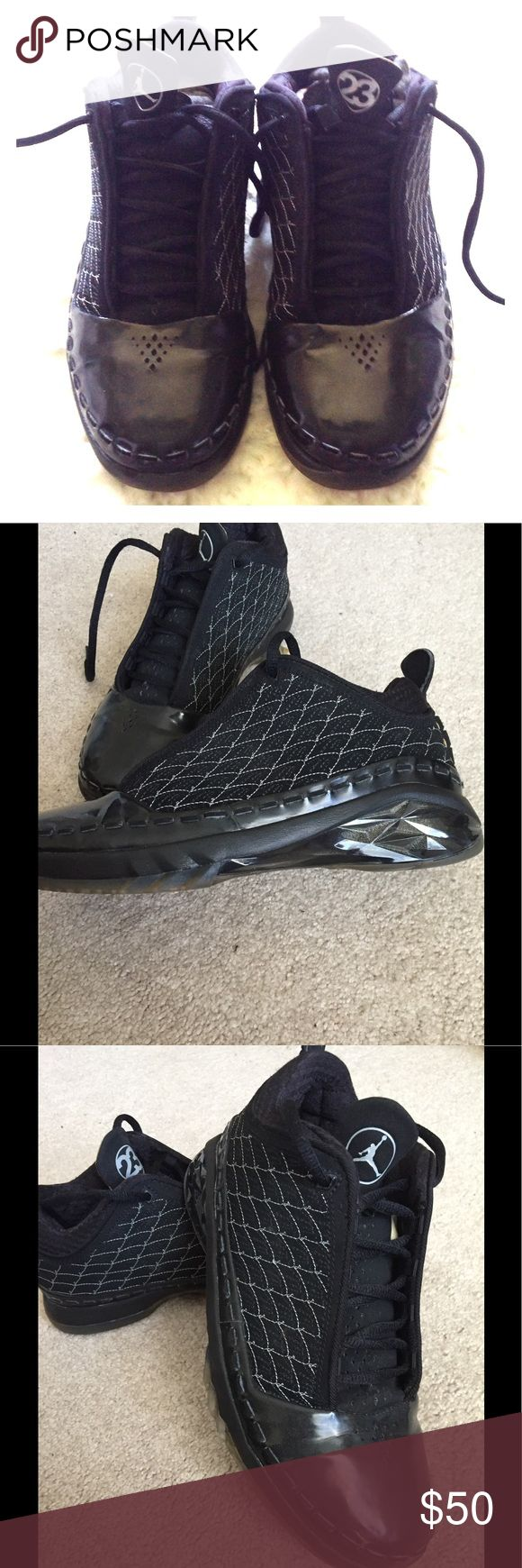 Air Jordan XX3 Low (Kids) Excellent preowned condition. Black with dark charcoal-silver stitching. Released in 2008. Jordan Shoes Sneakers