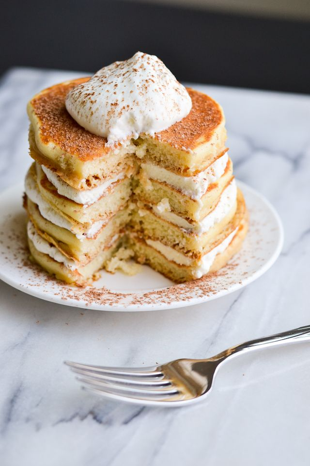 Tiramisu pancakes....  witch I probably didn't need to know about, good thing mascarpone is expensive.