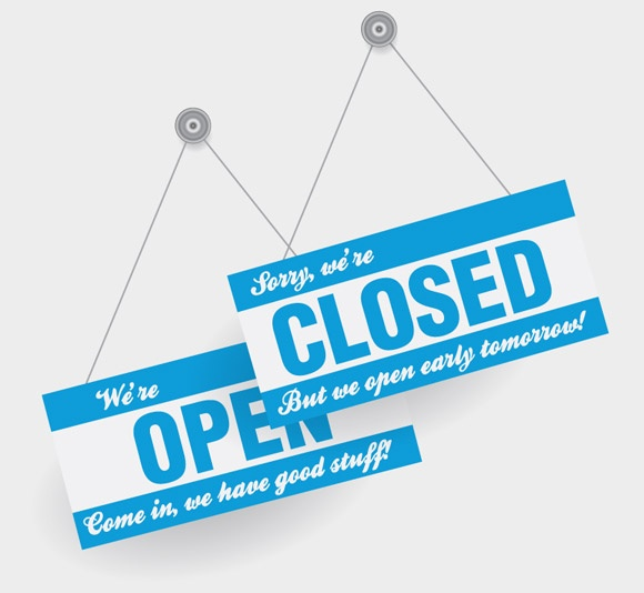 free vectors graphics - Open and Closed Signs