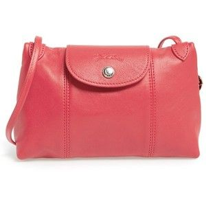 Women's Longchamp Le Pliage - Cuir Crossbody Bag