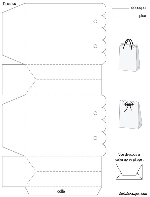 gabarit de bo te imprimer et d couper verschiddenes. Black Bedroom Furniture Sets. Home Design Ideas