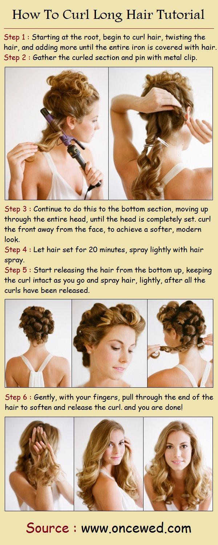 How To Curl Long Hair Tutorial | PinTutorials. #curling #curls #longhair #curlin…