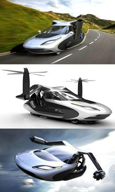 The Terrafugia TF-X, a beautifully designed concept car that can take flight from anywhere