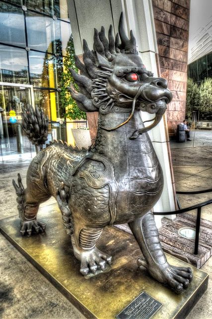 Statue At The Aria Casino Las Vegas Dragons Pinterest