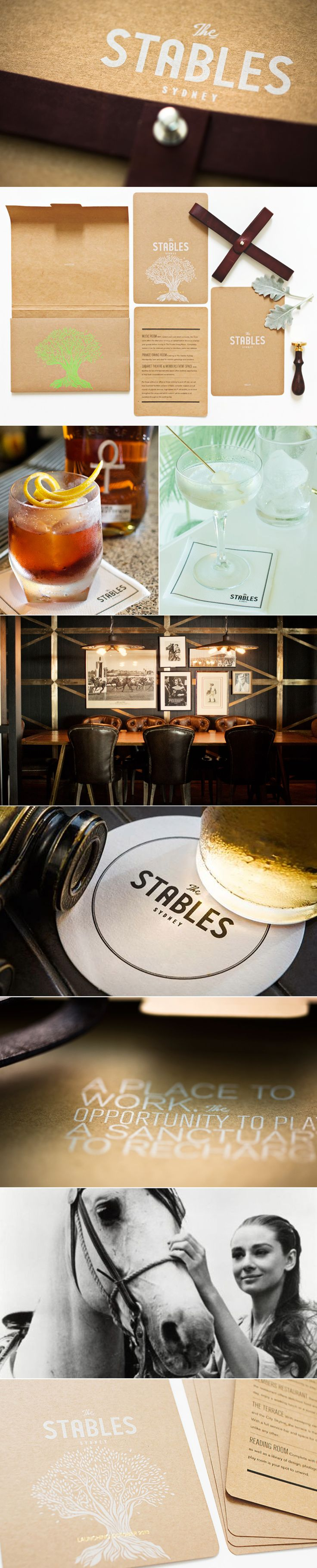 Created the branding for The Stables. An elite members club set on the top level of the Australia Turf Club in Randwick Racecourse.