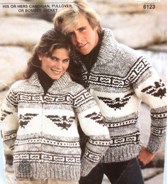 White Buffalo 6123 Cowichan Thunderbird Sweater by hatboxpantry