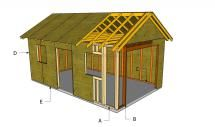 Free Woodworking Plans to Build a Garage: HowToSpecialist's Free 12x20 1-Car Garage Plan