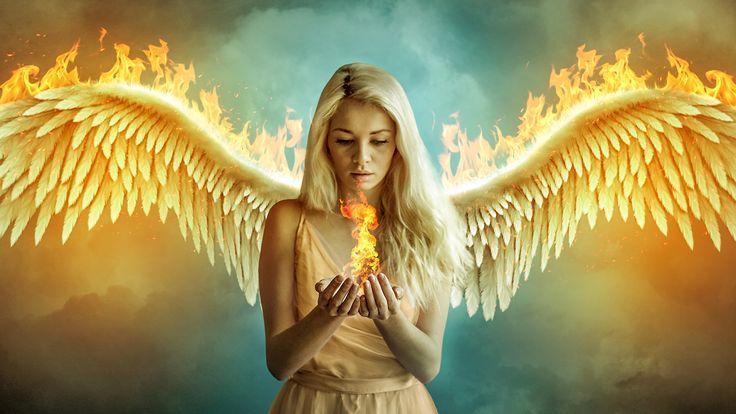 Fire Angel Fantasy Photomanipulation By Cindywoo Angel Artwork Fallen Angel Angel Warrior