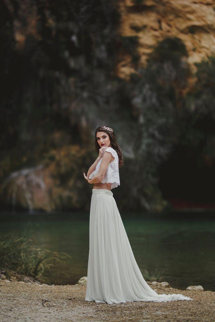 Boho wedding skirt – Beach wedding ivory chiffon skirt – Boho chic bride -Romantic wedding long skirt – Vintage wedding – Bohemian wedding – WEDDINGS ~ SHOWERS ~ PARTIES
