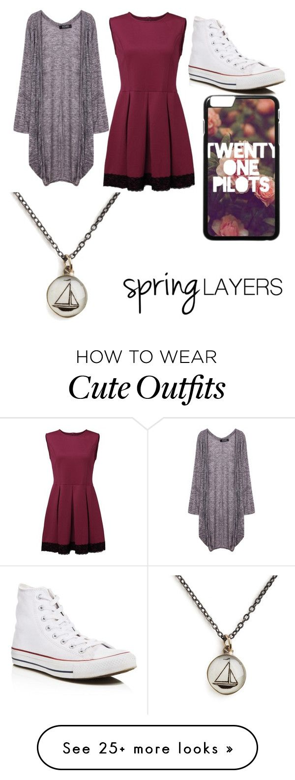 """Spring Layers Outfit"" by ekeefegrace on Polyvore featuring Converse, Chart…"