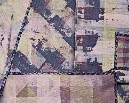 Textiel verven met acrylverf // Het resultaat na het wassen van de stof