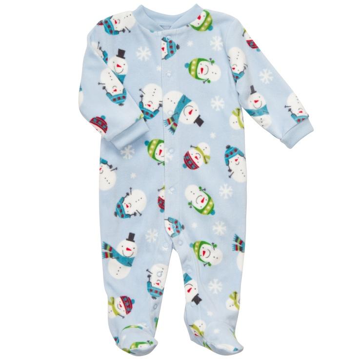Microfleece Snap-Up Sleep & Play | Baby Boy Pajamas