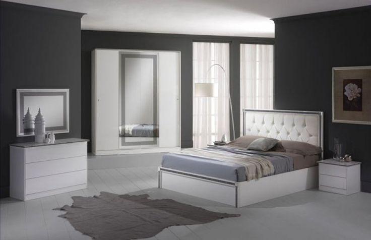 Ferrara háló ágyneműtartós franciaágy+éjjeliszekrény, komód+tükör, szekrény 4a