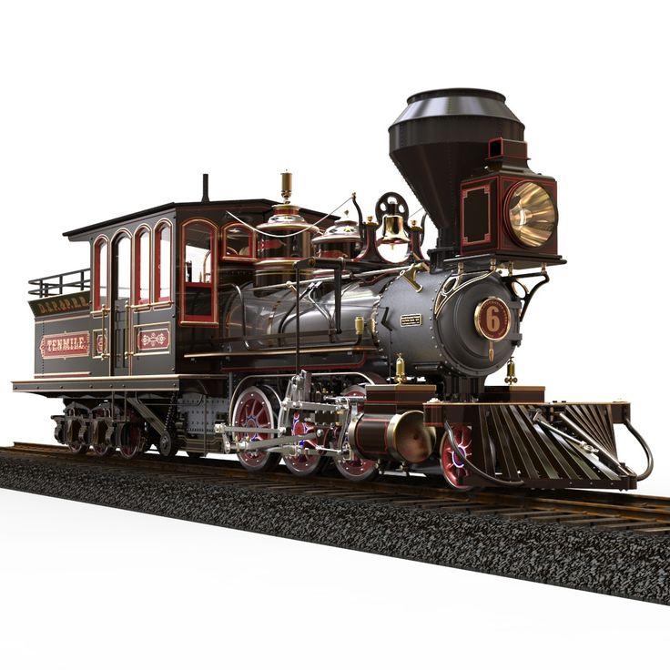 Locomotive Tenmile 1879 Mason 3d Obj 16mm Live Steam