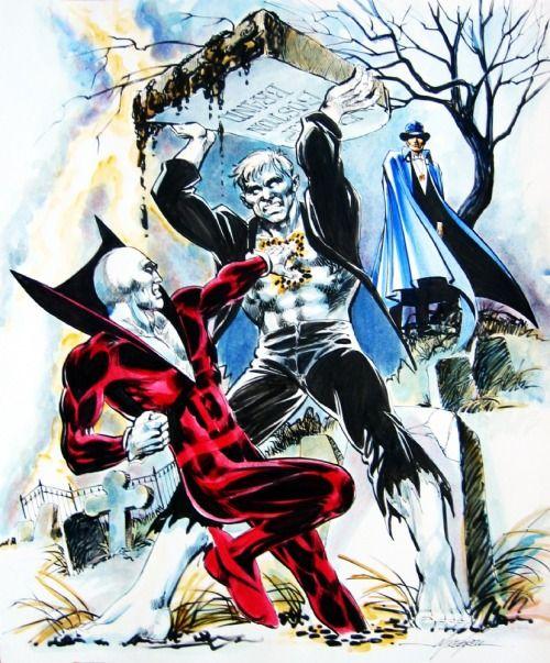 Deadman, Solomon Grundy And Phantom Stranger by Mike Grell