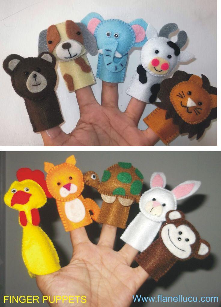 Funny Finger puppets. Media bercerita/ mendongeng untuk anak2.  #AnimalSeries #FingerPuppets #Go_Stories