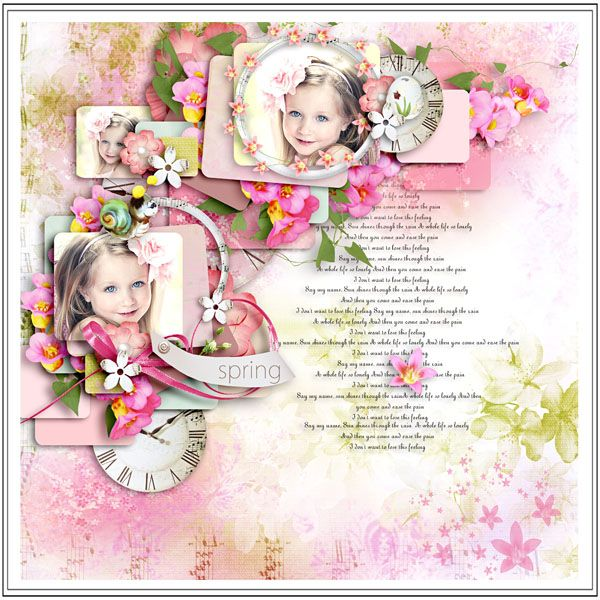 """Kit """"Early in the Spring"""" by Sekada designs  http://store.scrapgirls.com/Early-In-The-Spring-Collection.html Template """"Love steps 4"""" by Tinci  Wordart CU vol 5 by Delph designs  Photo by Elena Sigtryggson"""
