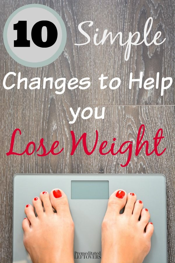 10 Simple Changes to Help You Lose Weight- Here are 10 easy changes you can make to your diet and lifestyle to help you lose weight.
