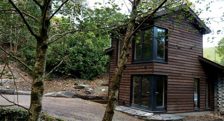 a house in the woods, in the Snowdonia National Park