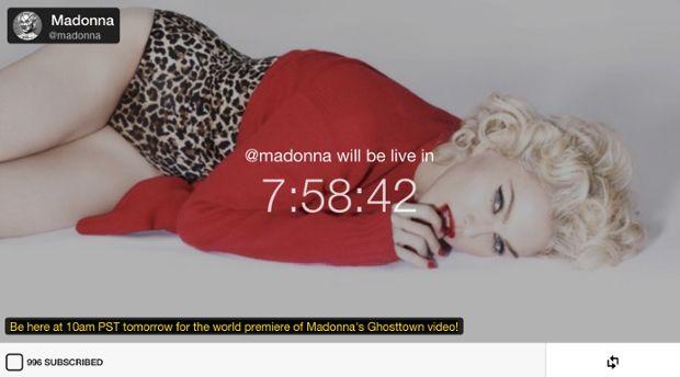 Madonna uses Meerkat app to debut new Ghosttown music video