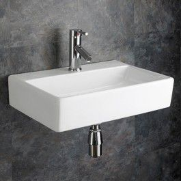 Small Rectangular Sink Bathroom. Wall Mounted 510mmm X 360mm Calabria Ceramic Rectangular Sink Rental Bathroomsmall