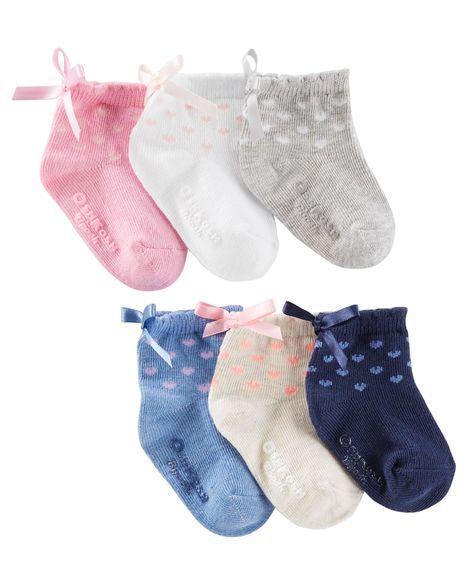 823a6886d8ea 6-Pack Bow Quarter Crew Socks