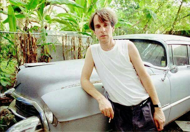 """Remembering Alex Chilton lead vocals for the 60's Pop Band """"The Box Tops"""" born on this day December 28, 1950. Alex was born in Memphis, but moved to New Orleans in the early 1980's and lived here till his death on March 17, 2010. Alex loved the culture and lifestyle of New Orleans and we miss him. Shown here with his Cadillac in New Orleans 1993."""