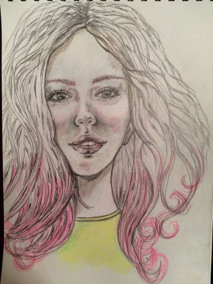 Drawing girl portrait art