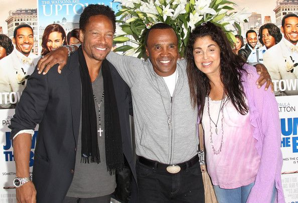 Photo of Gary Dourdan  & his friend Sugar Ray Leonard