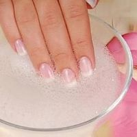 want white nails? use this at home recipe: Pour 2 ½ tbsp. of baking soda into a small bowl. Add 1 tbsp. of 3-percent hydrogen peroxide. Allow mix to sit on nails for 3-5 minutes. Alternatively, you can soak your fingers in the solution for 3 minutes instead of applying it. If you do not have hydrogen peroxide or baking soda available, try soaking your fingernails in lemon juice. Lemon juice has whitening properties that can also offer good results.