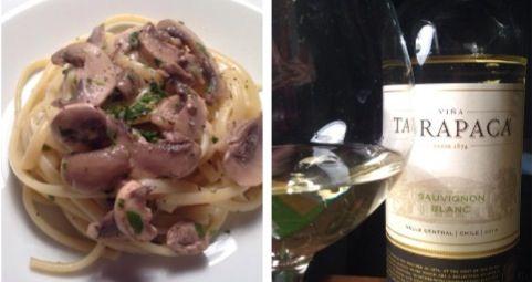Linguine funghi e brandy #food #Italy