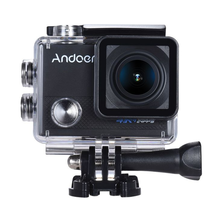 "Andoer AN5000 4K 24fps WiFi Sports Action Camera 20MP 1080P 60fps Gyroscope Anti-shake Support 5X Zoom 2"" LCD Screen Waterproof 30m 170° Selectable Wide Angle Lens Car DVR Camcorder w/ Portable Carrying Case"