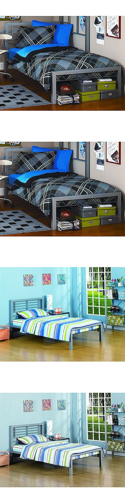 Beds and Bed Frames 175758: Metal Twin Size Bed Frame Platform Bedroom Furniture Headboard Kids Black New -> BUY IT NOW ONLY: $91.78 on eBay!