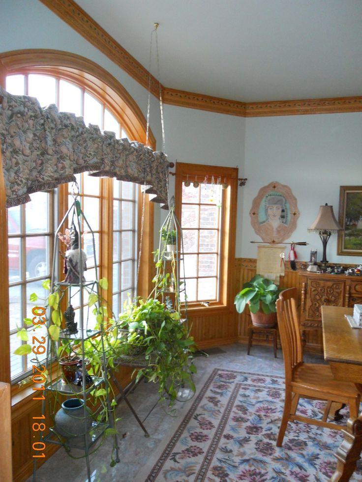 Living Room Colors With Oak Trim Blue Paint