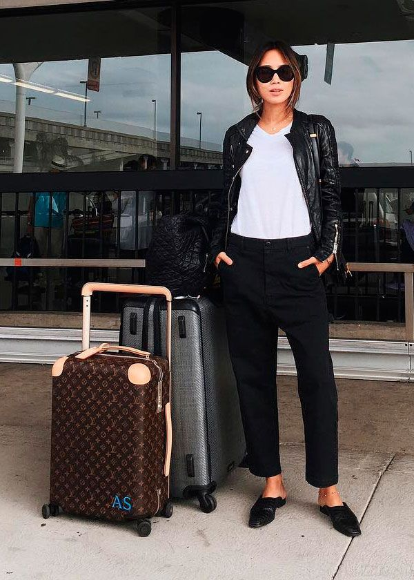 Aimee Song Fashion traveller, travel, lifestyle, vipapier, porta-passaporte, viagem, aeroporto, airport style