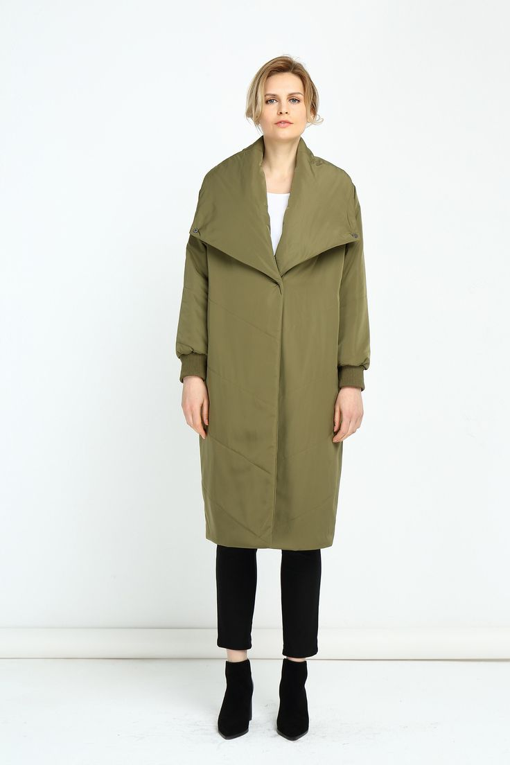 Tirelli - 17C738 - Padded Long Coat (More Colours Available)