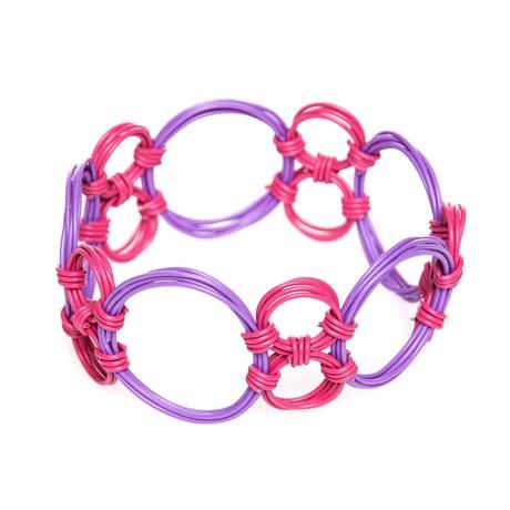 thumbnail for Multi-circle Bangle - Strawberry pop and purple